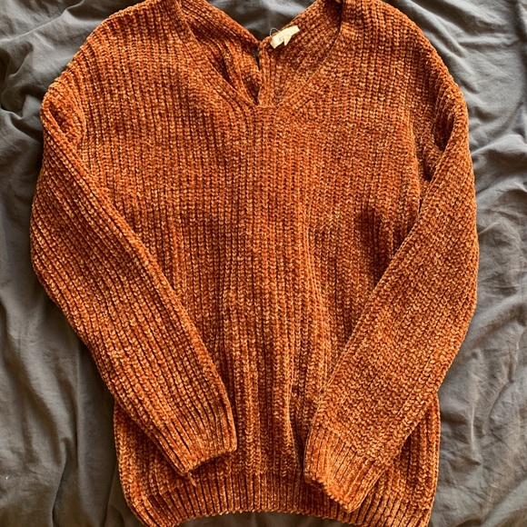 Mystique Boutique Sweaters | Burnt Orange Sweater With Back Accent .