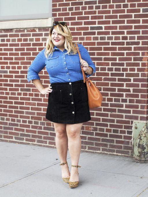 9 stylish plus size button front skirt outfit ideas | Chic outfits .