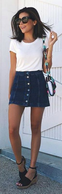 These Denim Skirt Outfits Will Make You Become A Headturner .
