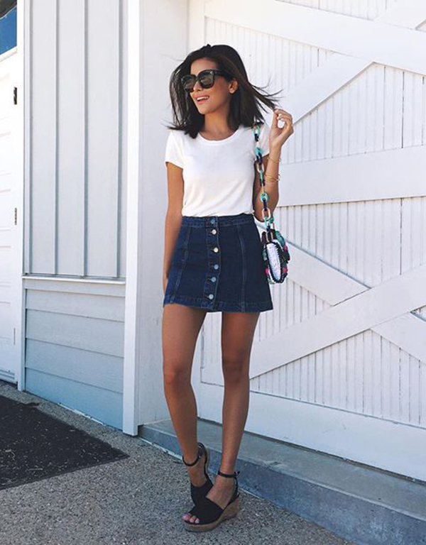 These Denim Skirt Outfits Will Make You Become A Headturner - Just .