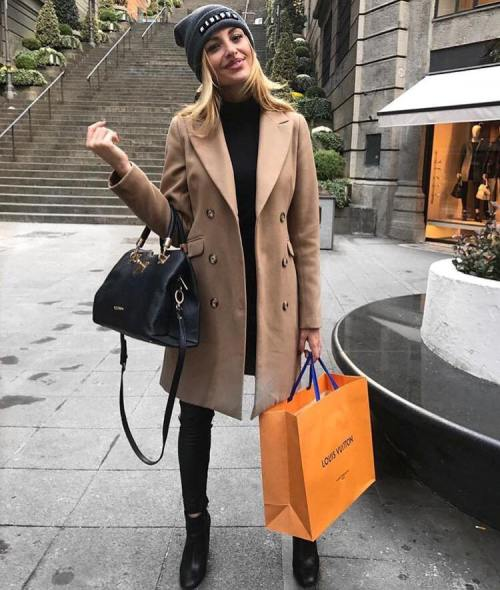 camel coat with black outfit – Just Trendy Gir