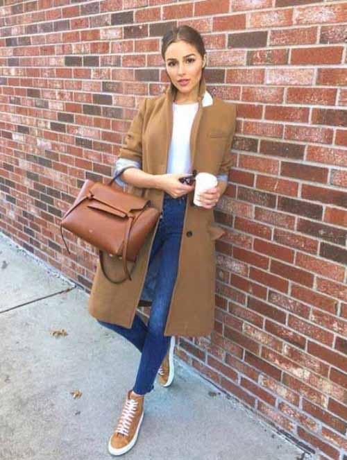 camel coat outfit idea – Just Trendy Gir