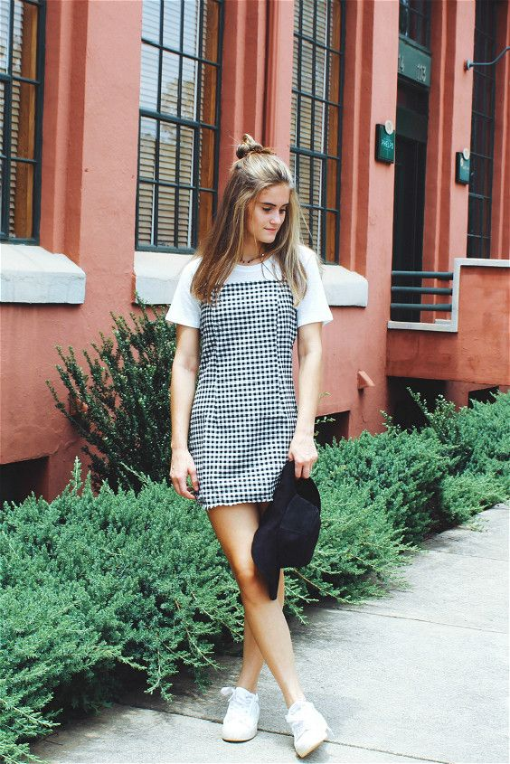 Gingham Print Cami Dress | Gingham dress outfit, Cami dress outfit .