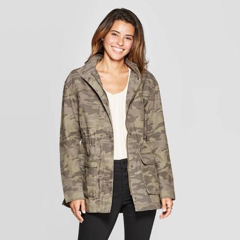 Women's Camo Print Utility Anorak Jacket - Universal Thread™ Olive .
