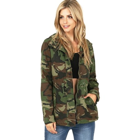 Ambiance Apparel - Ambiance Apparel Women's Cargo Style Camouflage .