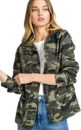 Amazon.com: Mirabell Women's Lightweight Long Sleeve Army .