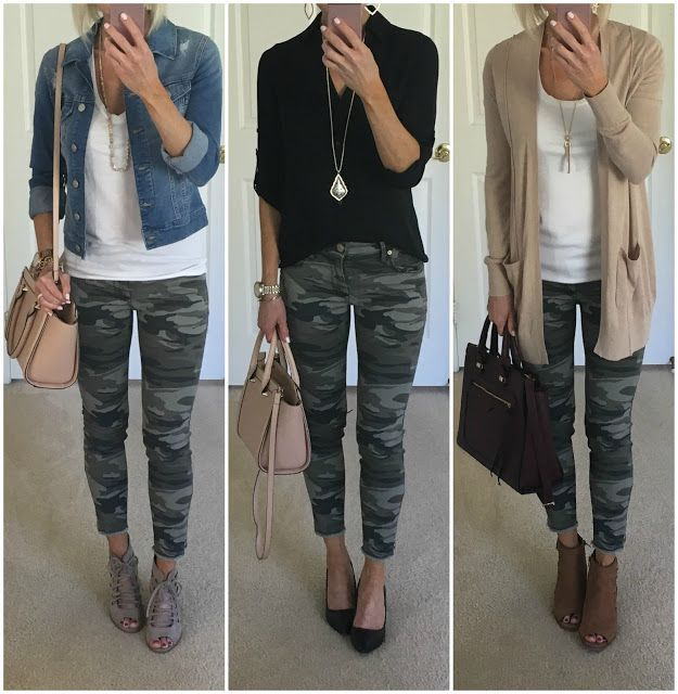 Camo Jeans Outfit Ideas | Camo jeans outfit, Fashion, Pants for wom