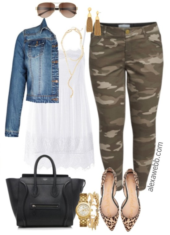 Plus Size Camo Pants Outfit - Alexa We