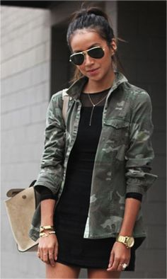 26 Best Camouflage Jacket Outfit images | Camouflage jacket .