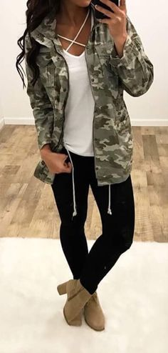 45 Best Camo Jacket Outfits images | Outfits, Autumn fashion, Camo .