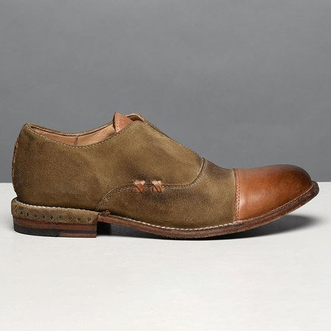 Women's Oxford Shoes Cap Toe X Stitching Vintage Loafers .