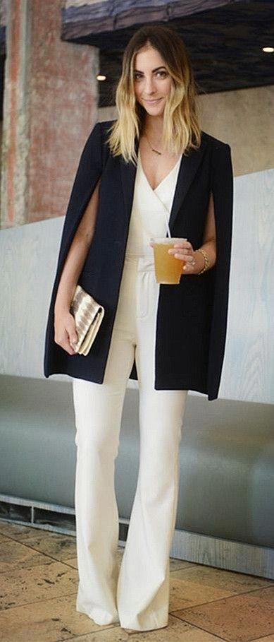 womensfashionover30s | Fashion, Cape blazer, Cape blazer outf