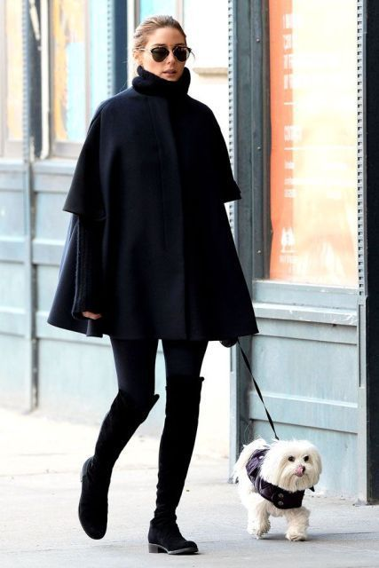 21 winter outfit ideas with cape coats - 21 winter outfit ideas .