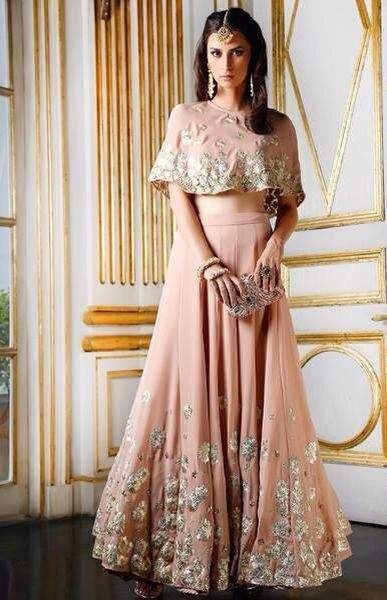 Cape style blouse designs | Indian wedding guest dress, Indian .