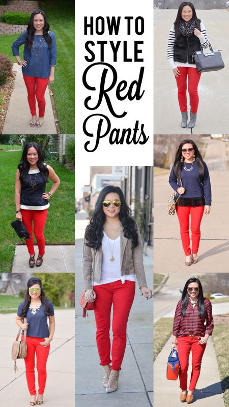 How to style red pants (With images) | Red pants outfit, Red pants .