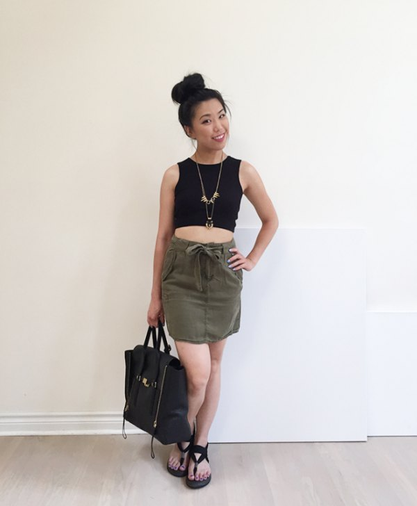 How to Wear Cargo Skirt: Best 15 Casual Outfit Ideas for Ladies .