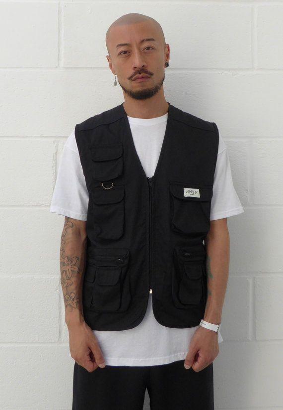 Utility Vest Black by WWYF on Etsy   Vest outfits for women, Vest .