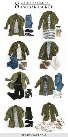 102 Best Green cargo jacket images | Autumn fashion, Fall outfits .