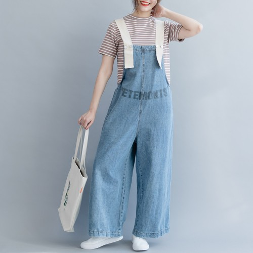 Women denim blue cotton clothes Women Fine Tutorials carpenter .