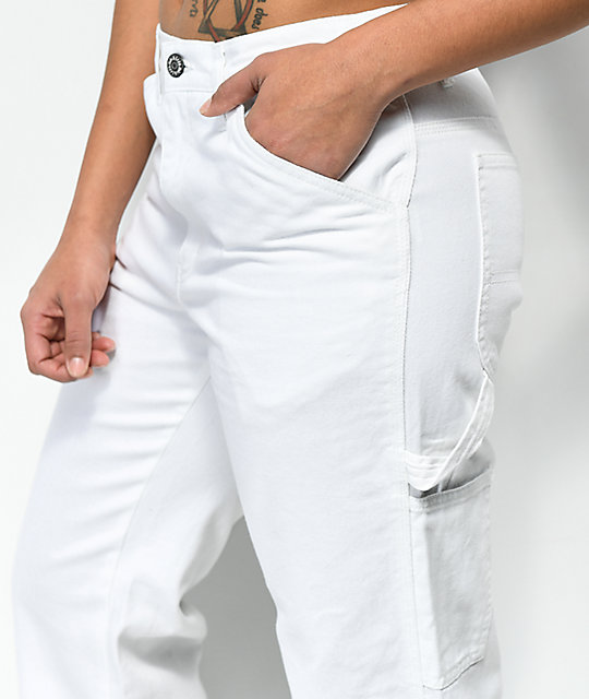 Dickies White Carpenter Pants | Zumi