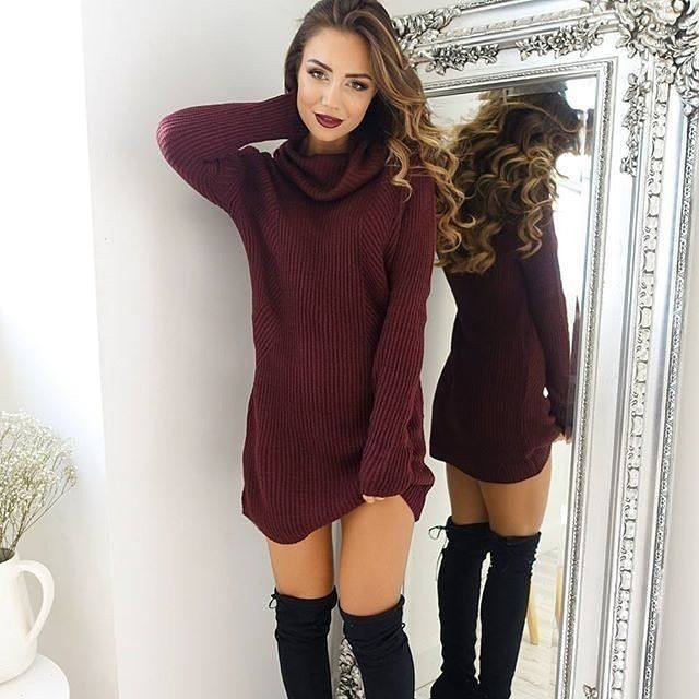 39 Trendy Coziest Sweater Dress Outfit Ideas for Women – Page 2 .
