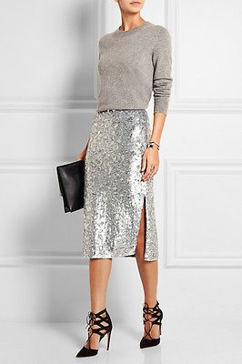 25-Fall-Wedding-Outfit-Ideas-for-Guests- | Sequin skirt outfit .