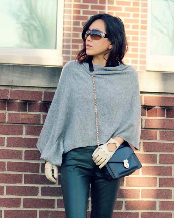 poncho outfit #wardrobe   Poncho outfit, Cashmere poncho, Pullover .