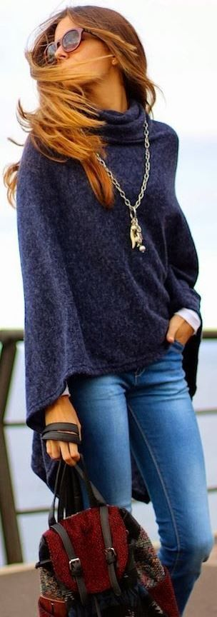 How To Wear Ponchos: 35 Stylish Outfit Ide