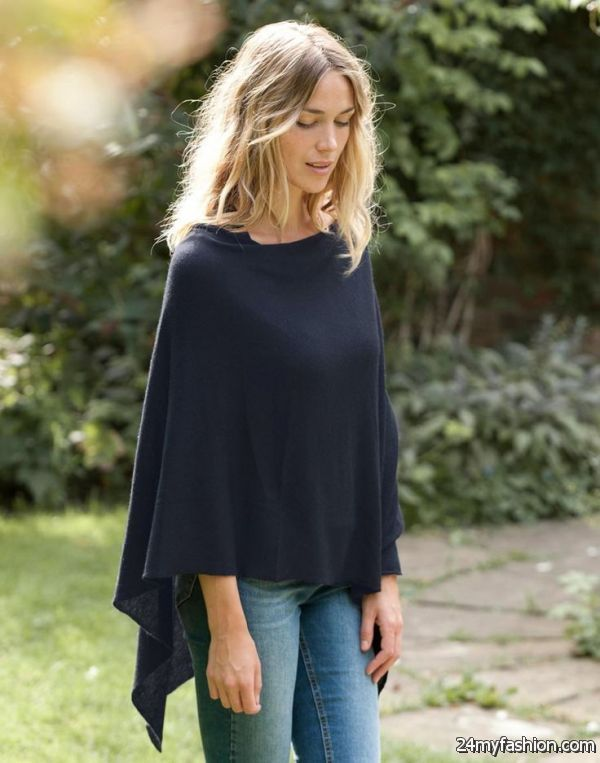 Poncho Outfit Ideas 2019-2020 | Poncho outfit, Black poncho .