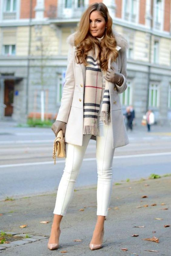 Chambray Cashmere Scarf | Stylish winter outfits, Winter fashion .