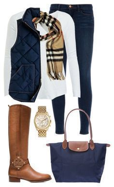 Cute Winter Outfit Ideas - Chambray Cashmere Scarf | Fashion .