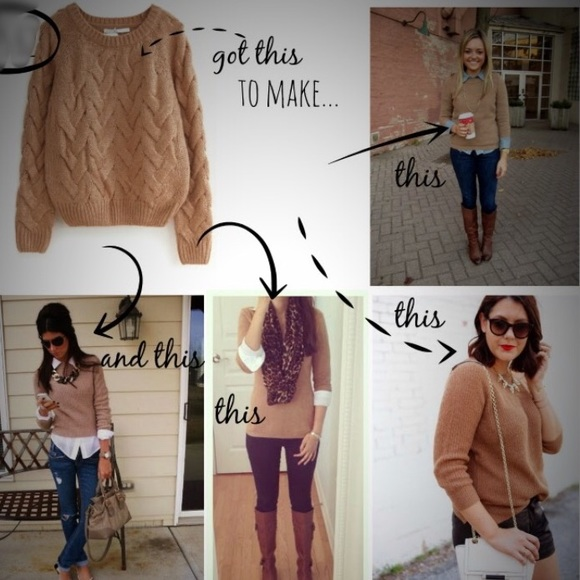 Halogen Sweaters | 100 Cashmere Sweater Camel Colored | Poshma