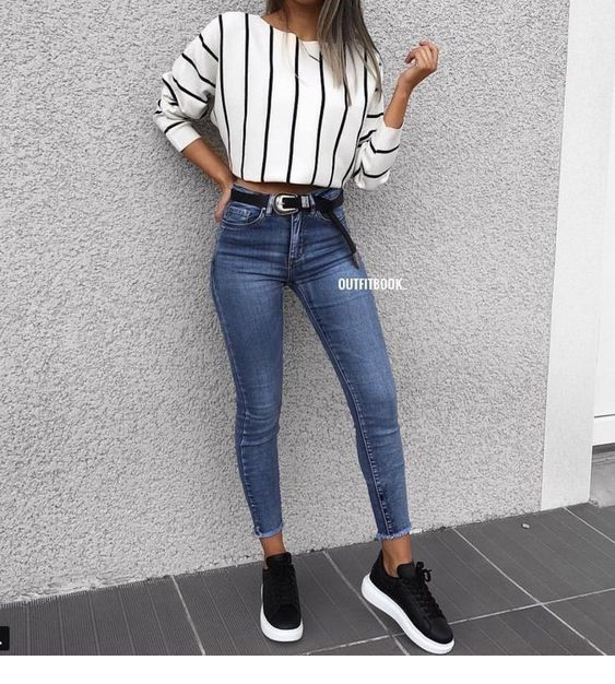 Cute casual outfits ideas 2018 - Miladies.n