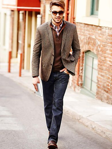 Tweed Blazer And Jacket Looks For Men   Casual sport coats, Sports .