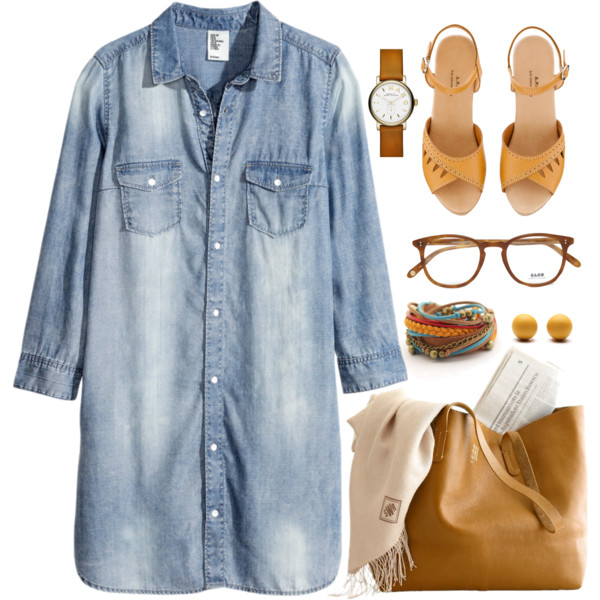 Outfit Ideas with Denim Dresses - Outfit Ideas