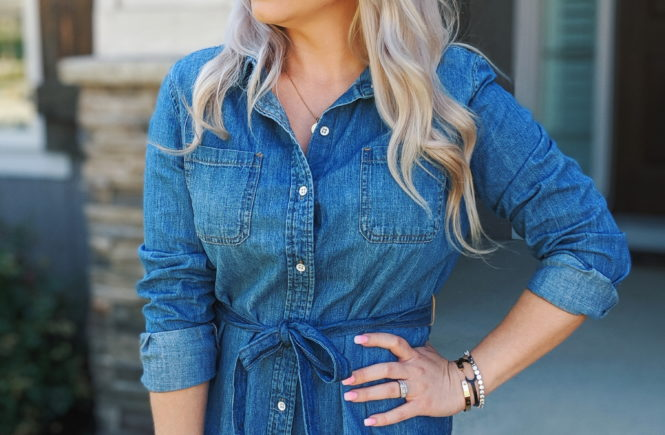 Chambray Dress Outfit Ideas - Jean Shirt Dress Outfits • COVET by .