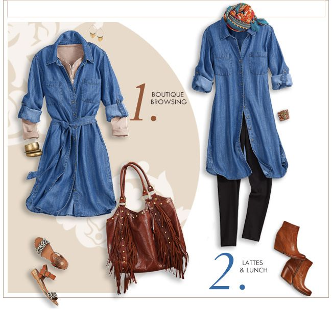 Tencel Denim Shirtdress from Soft Surroundings | Denim dress .
