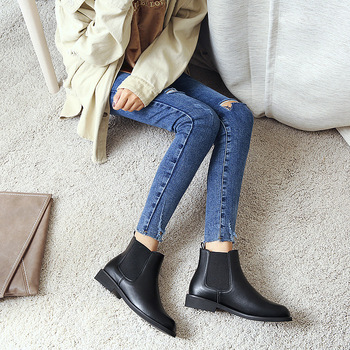 Low Moq Stock Zipper Boots Women Ladies Ankle Shoes Chelsea .