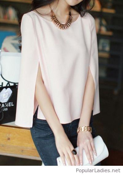Cape top and jeans | Chiffon blouse long sleeve, Fashion, Chiffon .