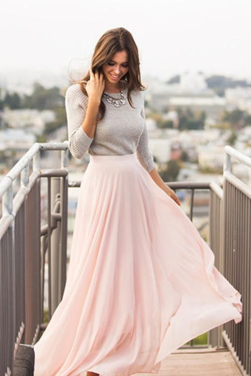 Pink maxi skirt image by joyce weitzberg on *~*Beautiful Changing .