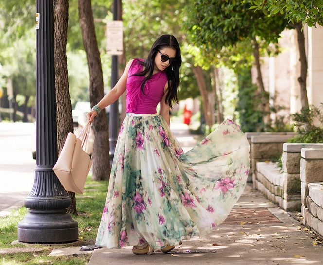 How To Wear A Chiffon Maxi Skirt - By | Petite length maxi dress .