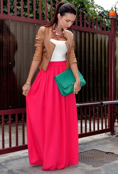 7 Ways To Wear Your Chiffon Maxi Skirt | Aeli