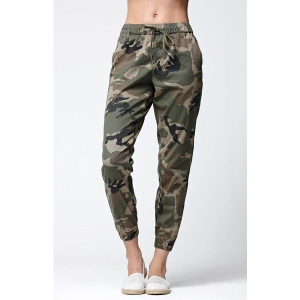 Bullhead Denim Co. Camo Chino Jogger Pants ($49) ❤ liked on .