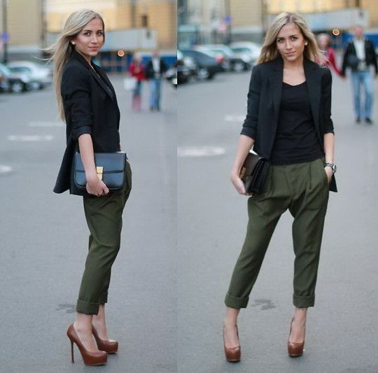 wear to work -- where can I get chinos like this?! #style #fashion .