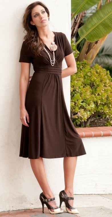 dresses, dresses, dresses! Chocolate brown dress! Love it! | Brown .