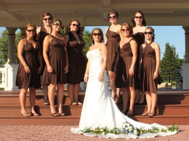 20 Chic Chocolate Brown Bridesmaid Dress Ideas - Weddingoman