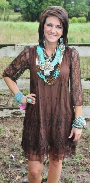 13 Amazing Chocolate Brown Dress Outfit Ideas | Brown lace dress .
