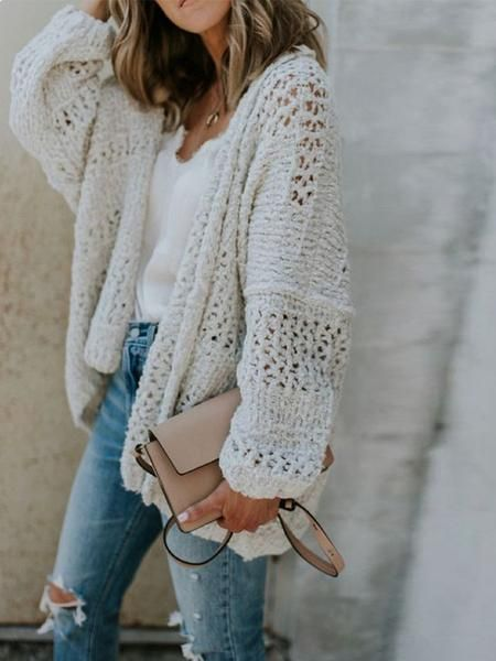 Oversize Chunky Knit Cardigan | Knit cardigan outfit, Sweater .