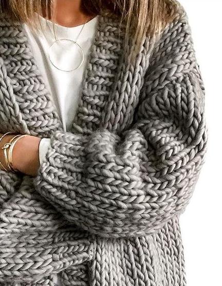chunky knit cardigans | Chunky knit cardigan, Cozy sweaters, Sty