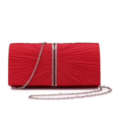Fashion Women's Clutch Handbag - Black,Dark Grey,Red,Yellow .